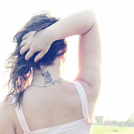 Summer Feeling by Sorina Lavinia Bodéa - People Body Art/Tattoos ( girl, vintage, feeling, romanian, owl, retro, summer, romania, nikon, cute, tattoo,  )