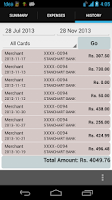 Screenshot of Expenses Wallet