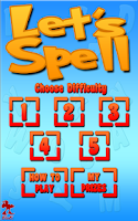 Screenshot of Lets Spell: Learn To Spell