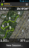 Screenshot of Runbot Sports Tracker