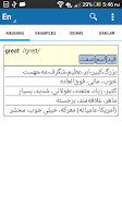 Screenshot of aFarsi: Persian Dictionary