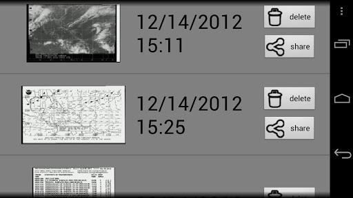 HF Weather Fax for marine - screenshot