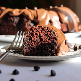 Chocolate Chip Cake with Chocolate Butter Cream Icing