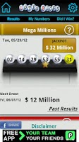 Screenshot of Lotto Picks US lottery results