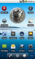 Screenshot of Cat 1 BritishBlue Analog Clock