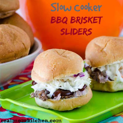 Slow Cooker BBQ Brisket Sliders