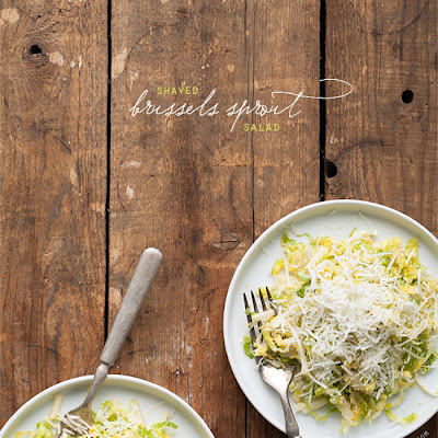 Shaved Brussels Sprout Salad with Apples and Pecorino
