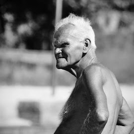 the look by Sinisa Predavac - People Portraits of Men ( guy, man b&w old age gray )