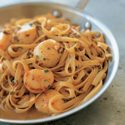 Tagliatelle with Scallops