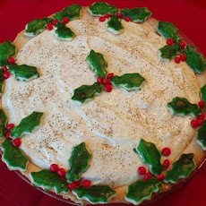 Eggnog  and Holly Pie