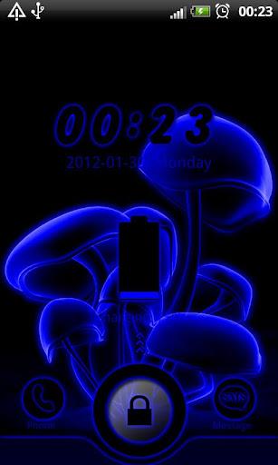 Blue Neon GO Locker theme
