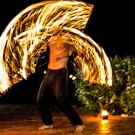 pyrotechnics by Ali Mehrem - People Musicians & Entertainers ( dynamic, pyrotechnics, fire, entertainer, works )