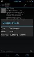 Screenshot of ICS SMS
