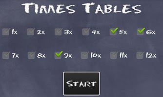 Screenshot of Times Tables