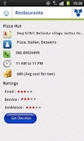 Screenshot of Restaurant Finder India V 1.0