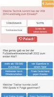 Screenshot of Wm 2014 Quiz