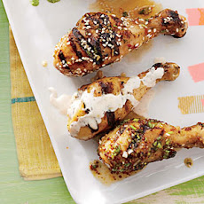 Chicken Drumsticks with Dill-icious Dipping Sauce