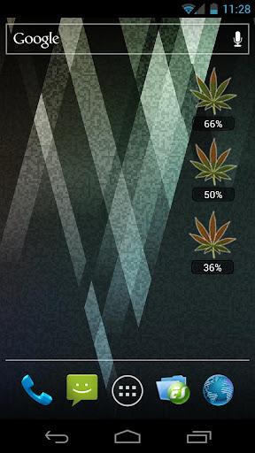 Weed Battery Widget