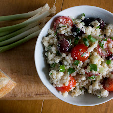 Garden Herb Couscous Salad with Green Onions