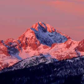 Triglav In The Sunrise by Miro Zalokar - Landscapes Mountains & Hills