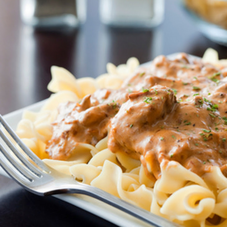 Beef Stroganoff Casserole with Ground Beef Recipe | Yummly