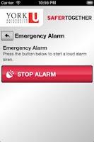 Screenshot of York U Safety
