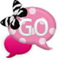 GO SMS - Polkadot Butterfly 1 icon