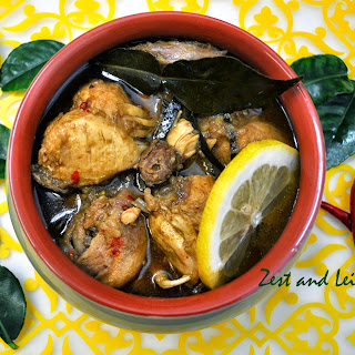 Chicken Curry flavored with Kaffir Lime Leaves