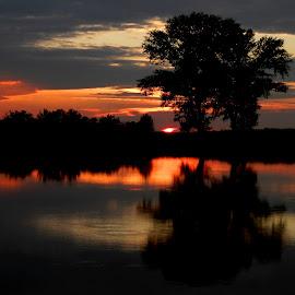 Sunset on the magical lake.. by Željko Salai - Landscapes Sunsets & Sunrises