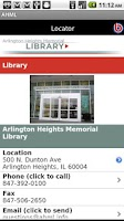 Screenshot of Arlington Heights Library