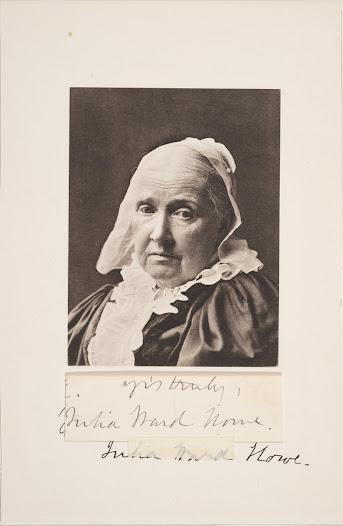 Julia Ward Howe (May 27, 1819 – October 17, 1910)