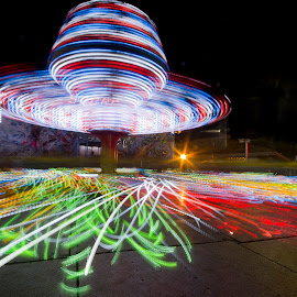 Going fast! by Andy Schwanke - News & Events Entertainment ( spinning, dark, long exposure, night, fast,  )