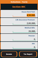 Screenshot of Income Tax Calculator