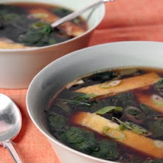 Spinach Soup with Egg Strips