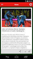 Screenshot of Vodafone Calcio