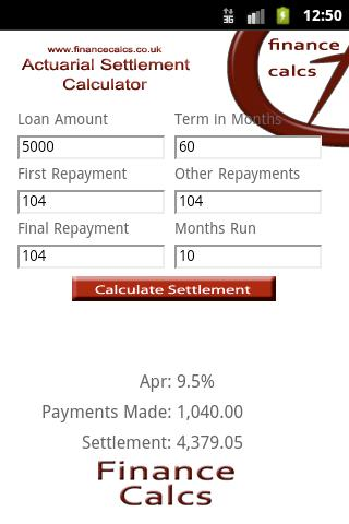 Actuarial Settlement Calculato