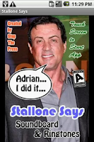 Screenshot of Stallone Says