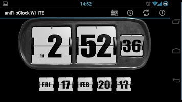 Screenshot of 3D Animated Flip Clock WHITE