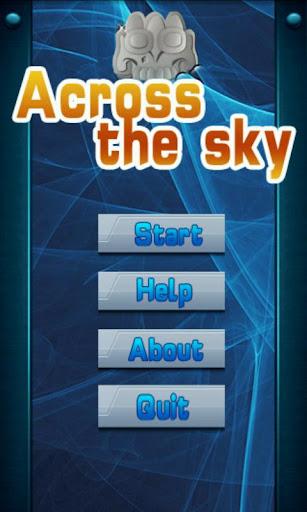 Across sky