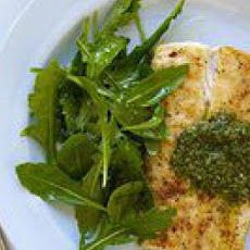 Halibut and Green Sauce
