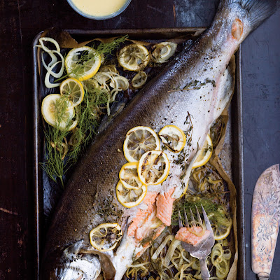 Fennel-Roasted Whole Salmon