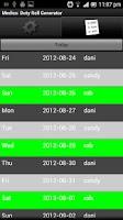 Screenshot of Medics: Duty Roll Generator