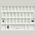 White and Green Keyboard Skin