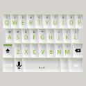 White and Green Keyboard Skin