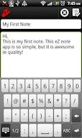 Screenshot of eZ Notes