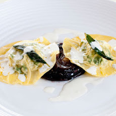 Onion, Spinach And Ricotta Ravioli With A Lemon-cream Sauce