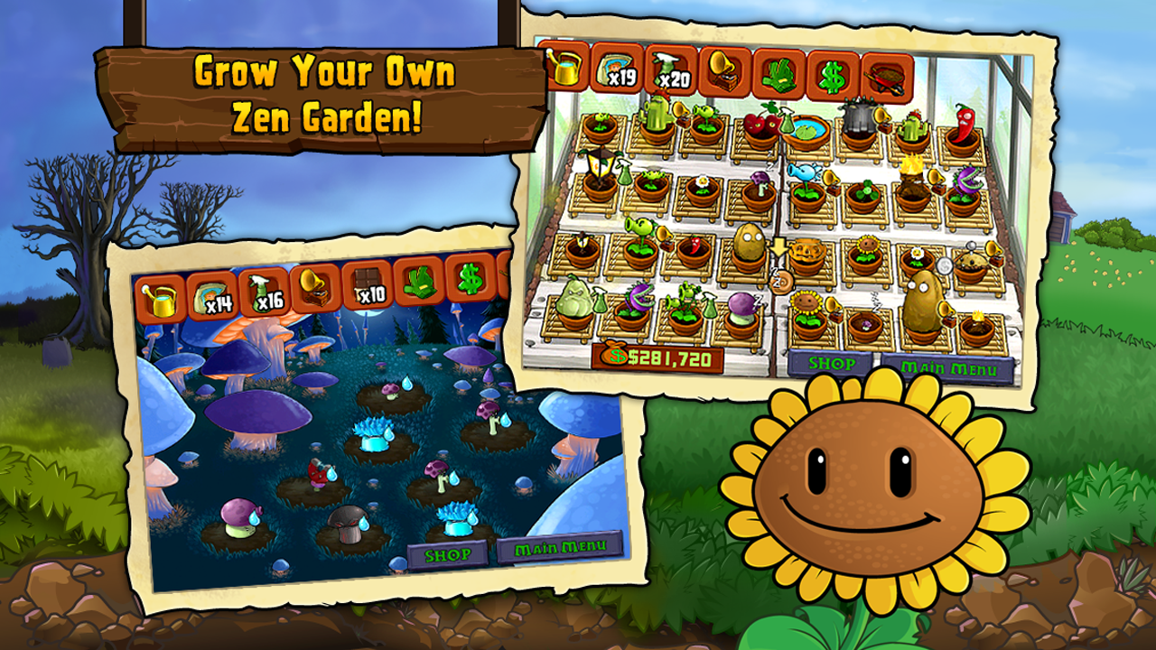Plants vs zombies free android apps on google play for Jardin zen plantas vs zombies