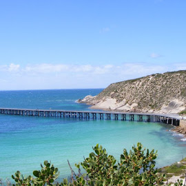 stenhouse jetty Marion bay sa by Cindy Christiansen - Landscapes Beaches