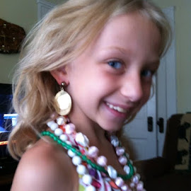 Playing dress up with jewelry by Patsy Gray Osborn - Babies & Children Children Candids