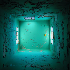 RU238 by Jonny Mike - Buildings & Architecture Decaying & Abandoned ( blue, sunlight, light, abandoned, decay,  )